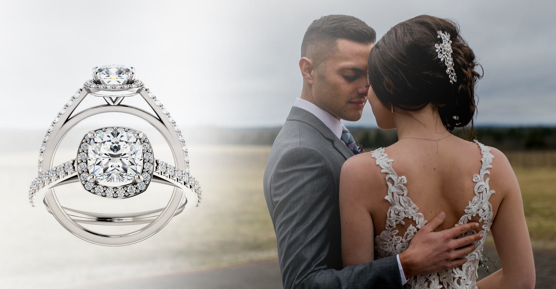 Engagement and Wedding Band Set Diamonds and More Jewelers in Farmington, Missouri
