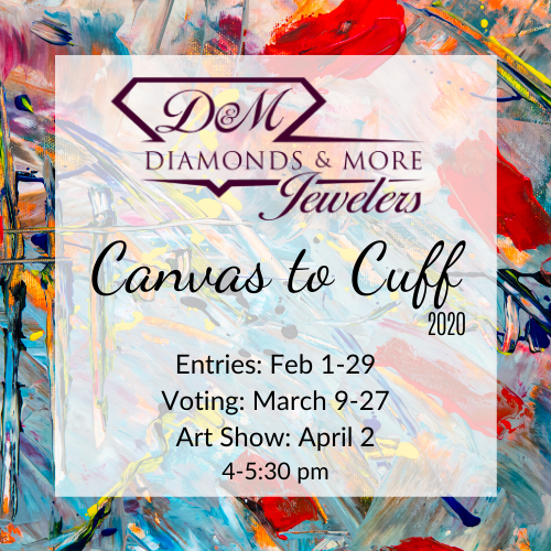 Canvas to Cuff Art Show 2020 at Diamonds & More Jewelers, in Farmington, Missouri